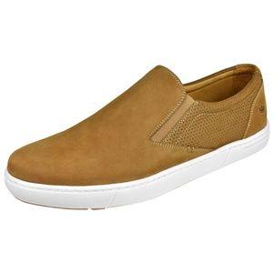 Peter Millar Big Sur Tan Suede Slip On Sneakers